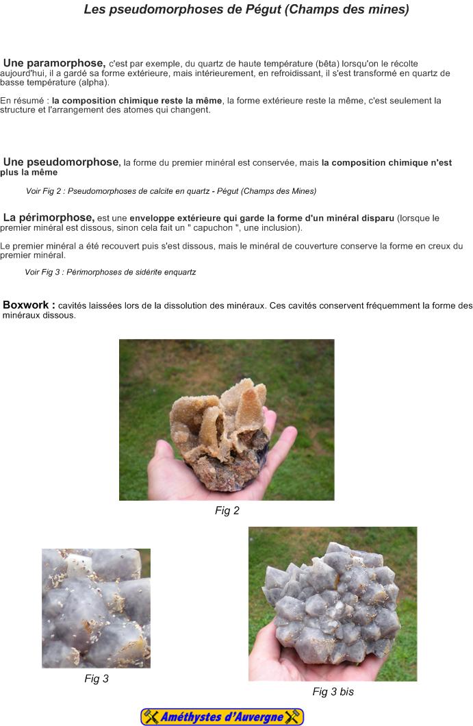 Les pseudomorphoses